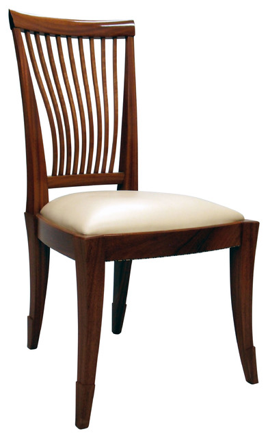 Elegance Dining Chair, mahogany version - Transitional - Dining Chairs