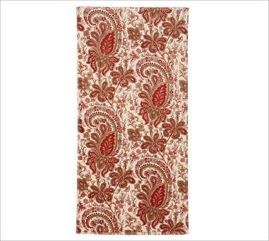 Charlie Paisley Organic Bath Towel Red Traditional