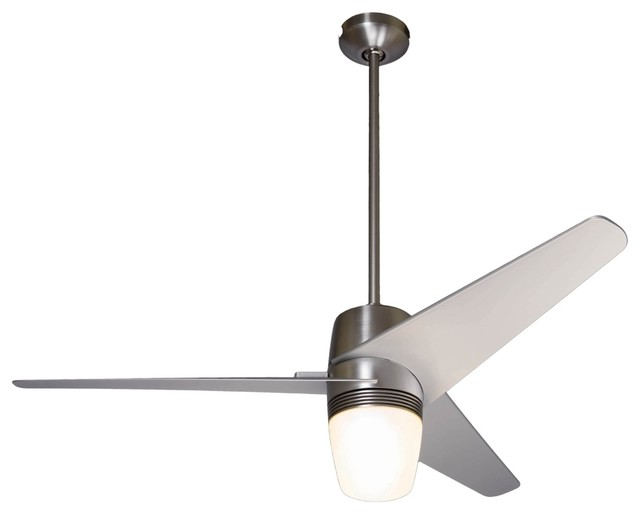 Ceiling Fans With Brightest Lights : Quot velo bright nickel with light ceiling fan