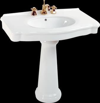 White Darbyshire Pedestal Sink - Traditional - Bathroom ...