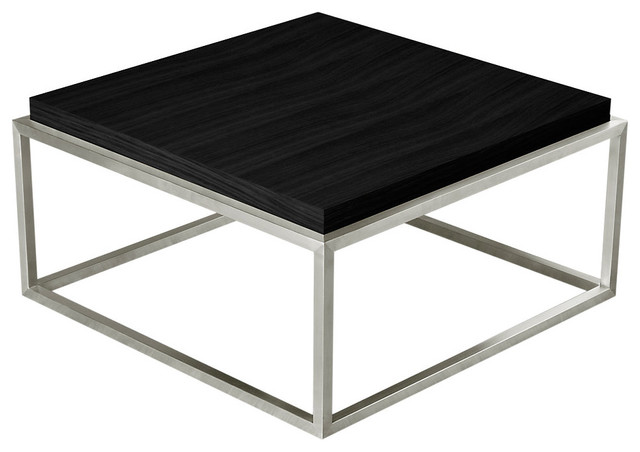 Drake Square Coffee Table In Black Oak Modern Coffee Tables By