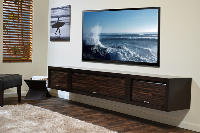 Wall Mounted Entertainment Console - ECO GEO Espresso