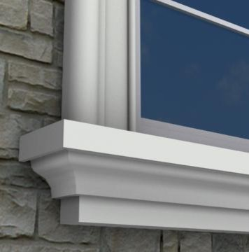 Mx206 exterior window sills molding and trim toronto for Exterior window trim design