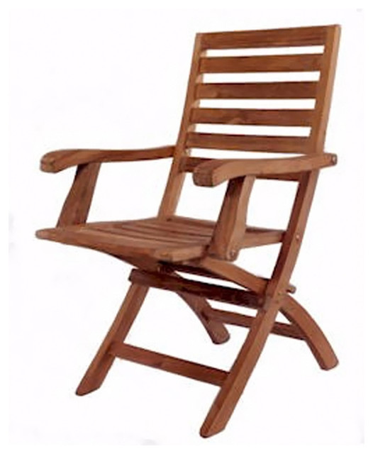 Anderson Teak Patio Lawn Garden Furniture Andrew Folding Armchair Set of 2