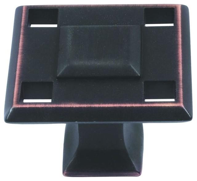 Modern Craftsman Cabinet Knob Venetian Bronze 1 38