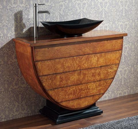 "LEGACY 40"" Vanity (Golden Burl) - Contemporary - Bathroom Vanities And Sink Consoles - by ..."