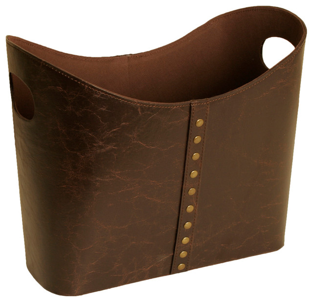 Wald Imports Wald Imports Brown Faux Leather Decorative Storage