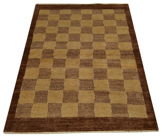Checkerboard design 100 wool peshawar gabbeh hand knotted rug sh14696 modern area rugs by - Checkerboard area rug ...