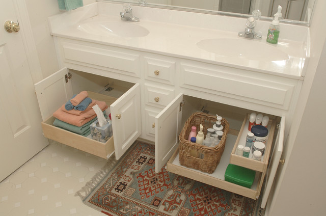 Bathroom pull out shelves other by shelfgenie of san