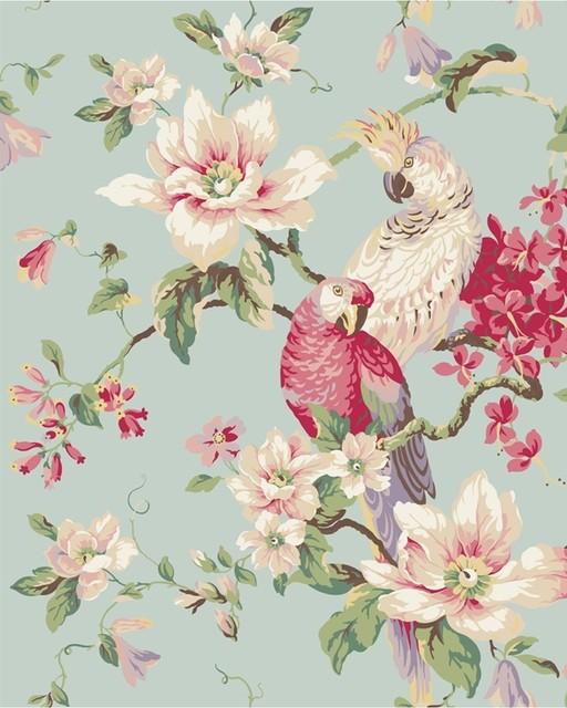 Tropical Birds And Magnolias Wallpaper