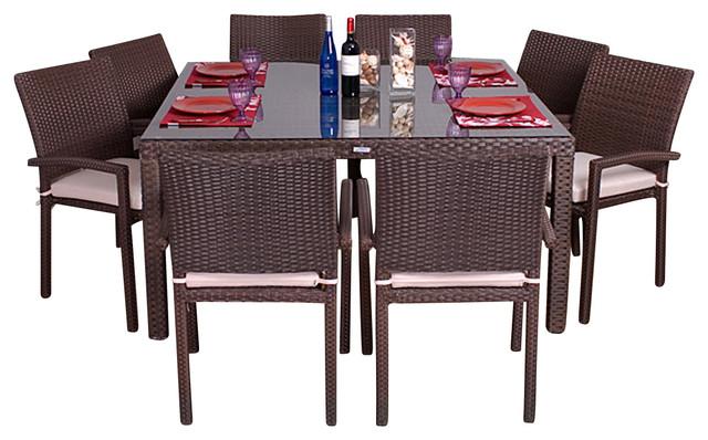 9 piece square patio dining set 1