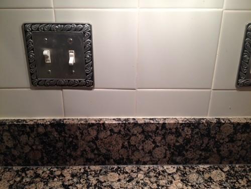 Tile over existing tile backsplash