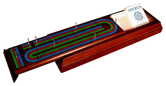 World Wise Imports Slide Top Cribbage - Traditional - Board Games And Card Games - by Beyond Stores