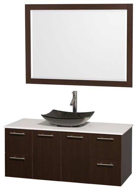 sink 46 mirror contemporary bathroom vanities and sink consoles