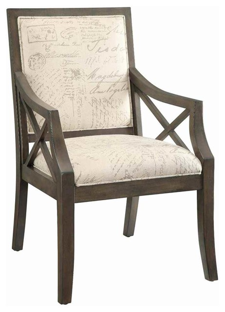 Driftwood french script arm chair armchairs and accent