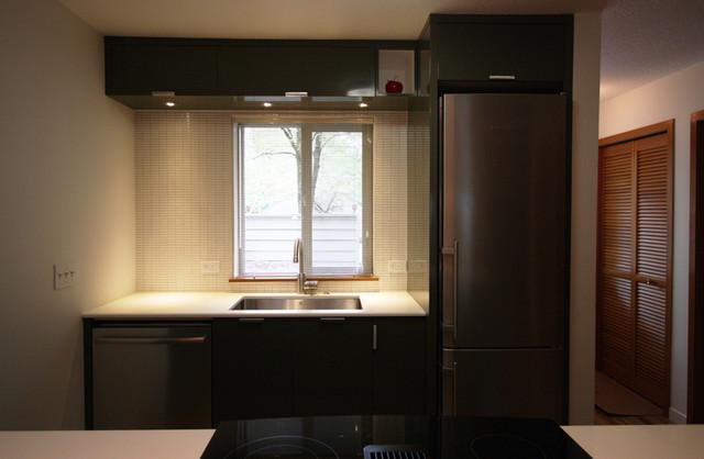 Small modern condo kitchen modern kitchen portland for Small condo kitchen designs pictures