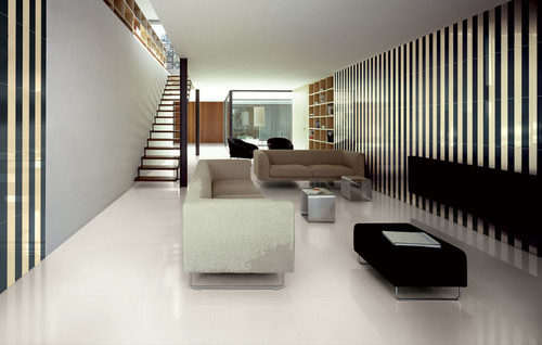 Modern Living Room by Chicago Tile, Stone & Countertops StonePeak Ceramics