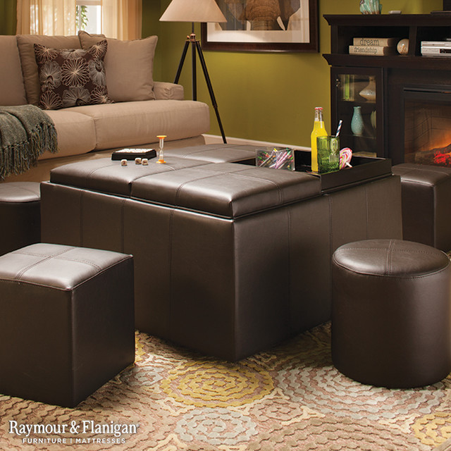Nolan Flip Top Storage Ottoman Living Room Other Metro By Raymour