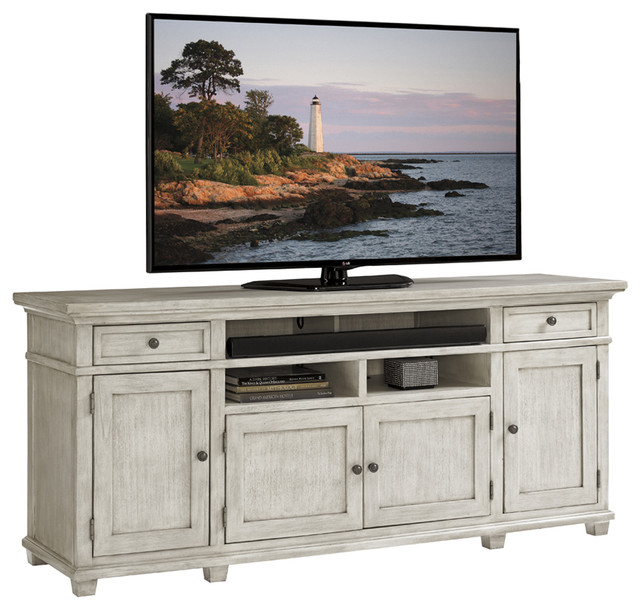 Lexington Oyster Bay Kings Point Media Console - Beach Style - Media Cabinets - by Benjamin Rugs ...