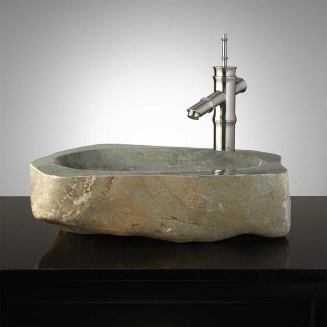 Trikala Natural Stone Vessel Sink Traditional Bathroom Sinks By Signature Hardware