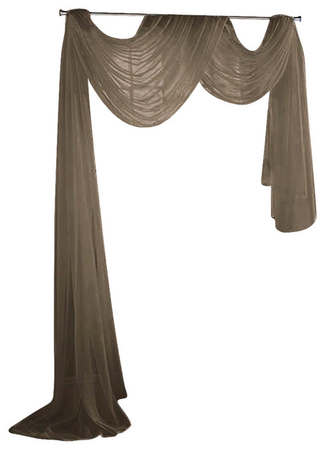 Sheer Voile 216 Long Window Scarf Swag Traditional