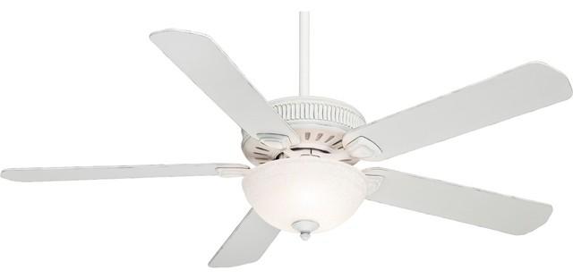 60 casablanca ainsworth snowflake glass light ceiling fan for Farmhouse ceiling fan