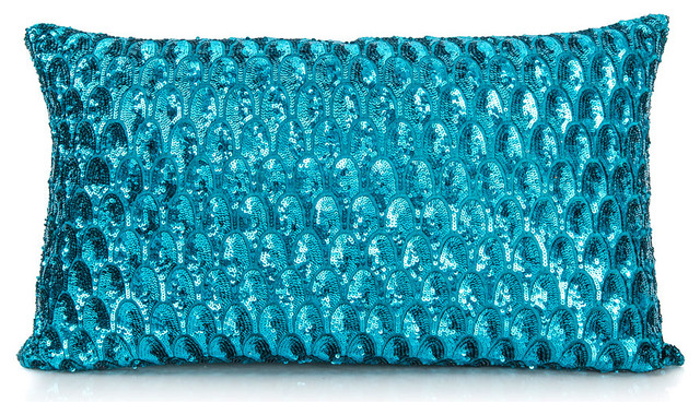 Pompano Pillow - Turquoise - Contemporary - Decorative Pillows - by AHAlife