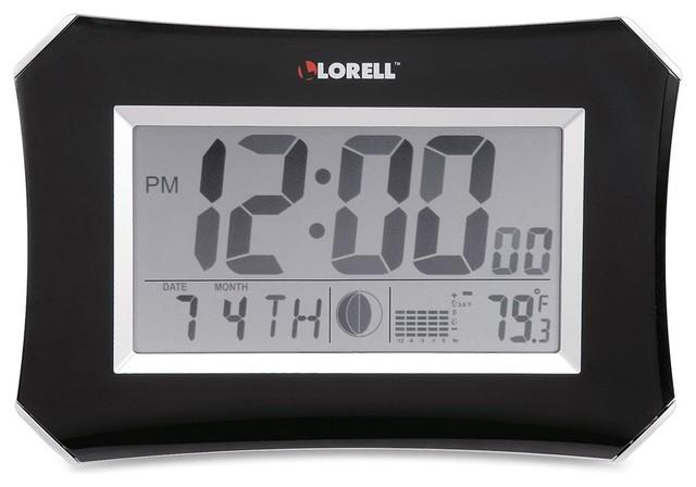 Lorell LCD Wall Alarm Clock Digital Contemporary Alarm Clocks By Biso