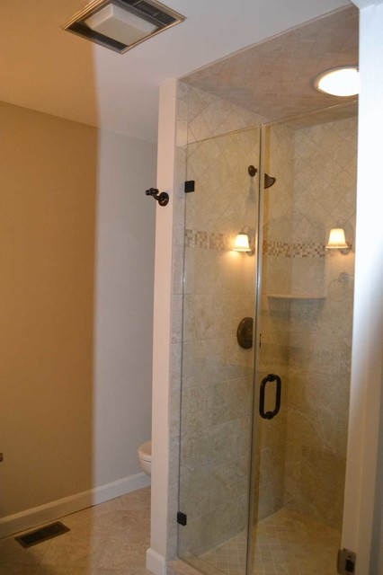 hall bath shower after shower before and after allure bathroom remodeling
