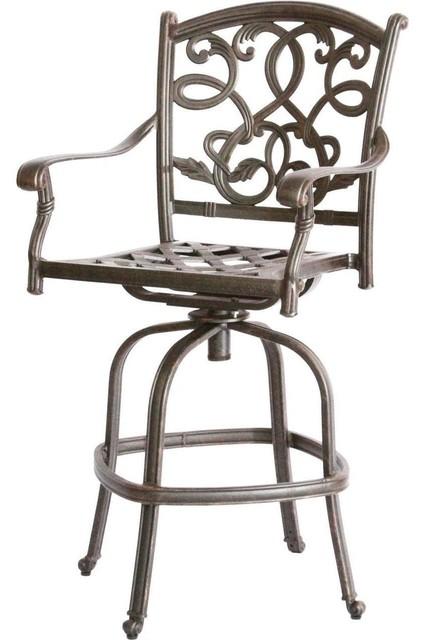 Darlee Santa Monica Swivel Bar Stool Traditional  : traditional outdoor bar stools and counter stools from www.houzz.com size 422 x 640 jpeg 50kB