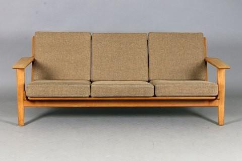 hans j wegner 3 sitzer sofa modern sofas by pamono. Black Bedroom Furniture Sets. Home Design Ideas