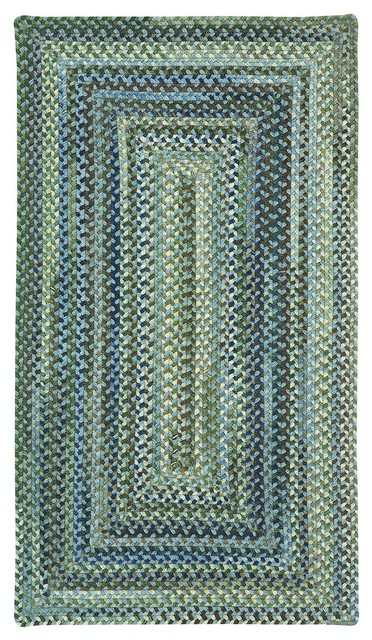 """Braided Manchester Square 5'6"""" Square Light Blue Area Rug ... - photo#39"""