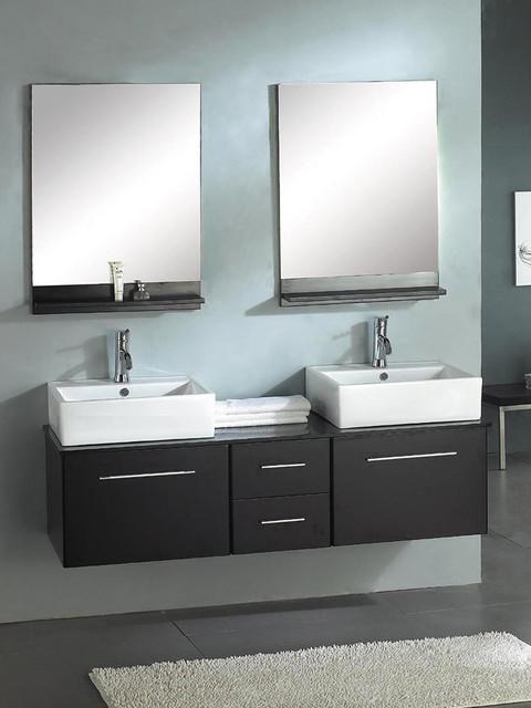 Mounted Dual Bathroom Vanity Modern Bathroom Vanities And Sink