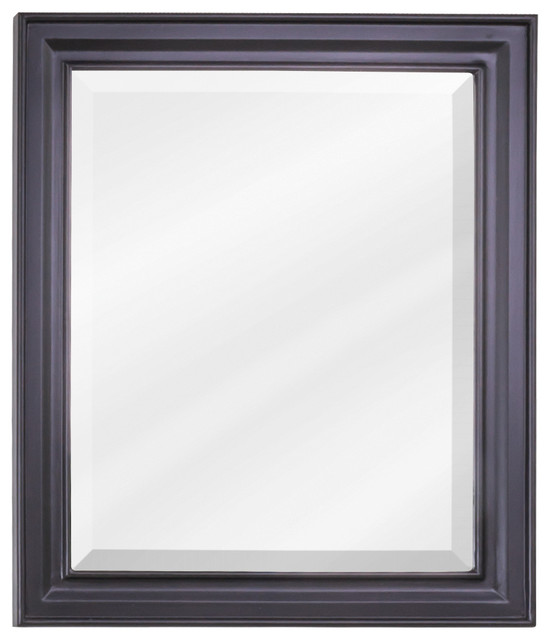 Douglas Bath Elements Mirror Painted Black Transitional Bathroom Mirrors By New York