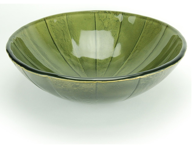 Fontaine Green Envy Glass Vessel Sink Contemporary Bathroom Sinks By
