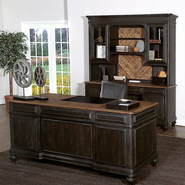Workspace and home office smart furniture rustic desks and hutches other metro by - Rustic home office furniture ...