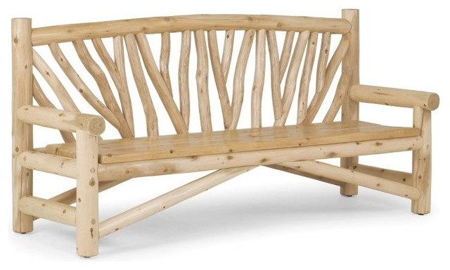 Rustic Outdoor Bench 1504 by La Lune Collection Rustic Patio Furniture A