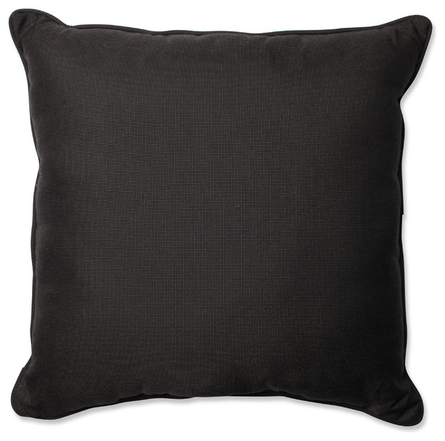 Gray Floor Pillows : Tweed Gray 25