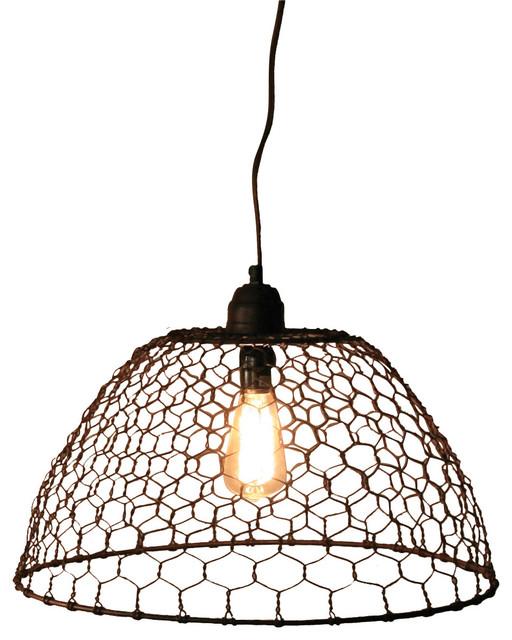 Chicken Wire Pendant Lamp Industrial Pendant Lighting