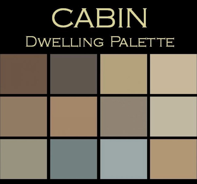 color in space cabin palette swatches rustic home decor