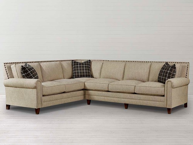 Harlan Large L-Shaped Sectional by Bassett Furniture - Contemporary ...