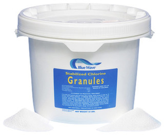 Blue Wave Granular Di Chlor 25 Lb Traditional Swimming Pool Chemicals Cleaning Tools