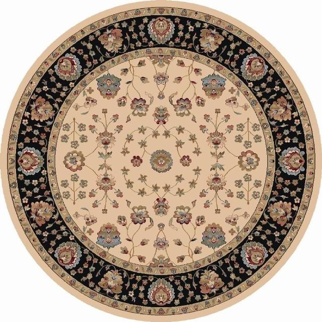 Radiance Traditional Rug Ivory Border Color Black 7 10