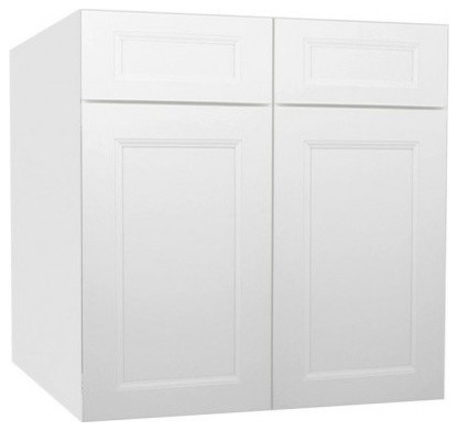 Uptown White Kitchen Base Cabinet-B30B contemporary-kitchen-cabinetry