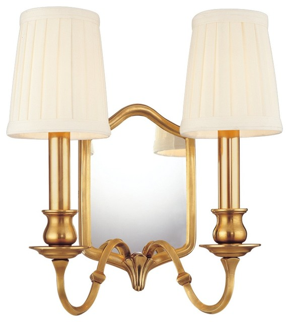Wall Sconces Transitional : Hudson Valley Lighting Endicott Light Mirrored Transitional Wall Sconce X-BGA-27 - Transitional ...