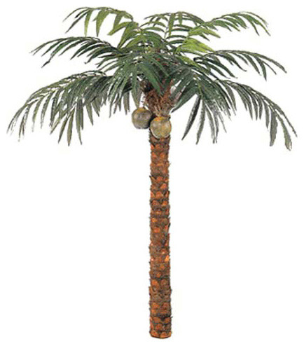 Foot Coconut Palm Tree Tropical Artificial Flowers