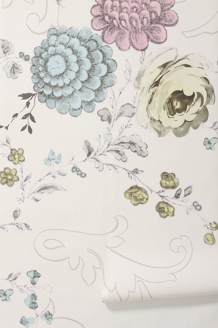 Blooming filigree mural wall decals by anthropologie for Anthropologie mural wallpaper