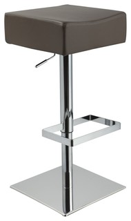 Eco Leather Beige Contemporary Barstool Modern Bar Stools And Kitchen Sto
