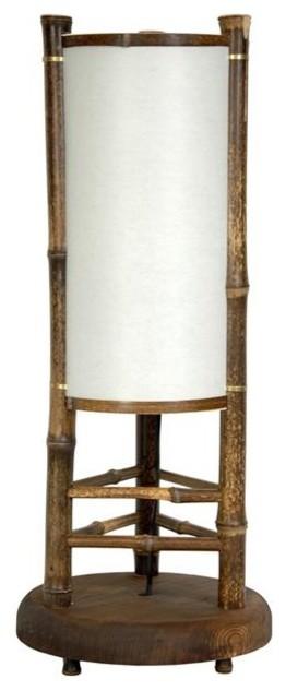 20 In High Koru Japanese Bamboo Table Lamp