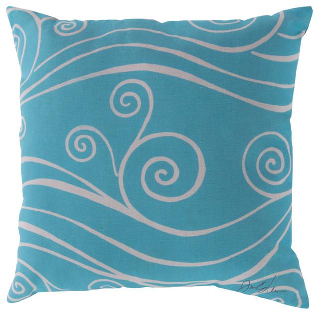 Modern Outdoor Pillows And Cushions : Rain Pillow 18x18x4 - Contemporary - Outdoor Cushions And Pillows - by Surya